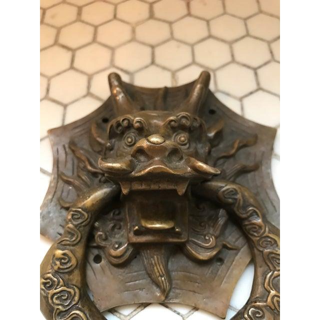 Asian Dragon Brass Door Knocker - Image 3 of 10