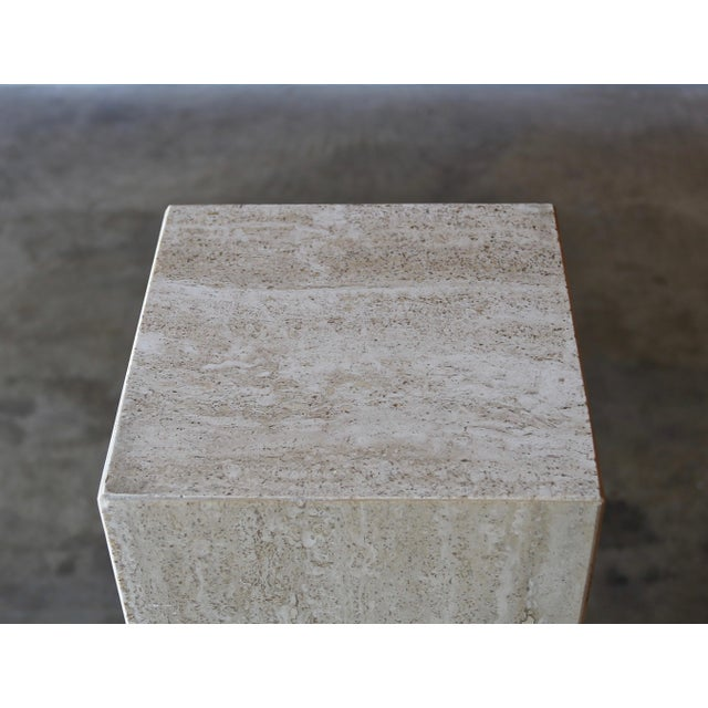 1980s Travertine Pedestals Circa 1980 - a Pair For Sale - Image 5 of 6