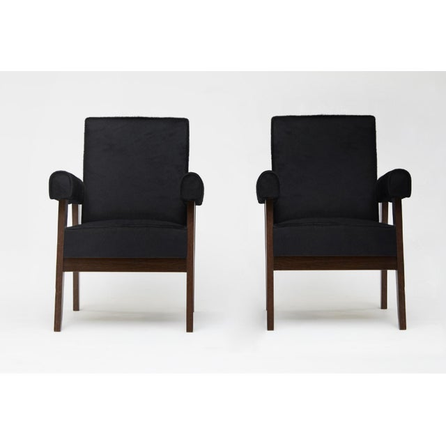 """""""Advocate & Press"""" Bridge Style Lounge Chairs Upholstered in Brazilian Cowhide after Le Corbusier and Pierre Jeanneret -..."""