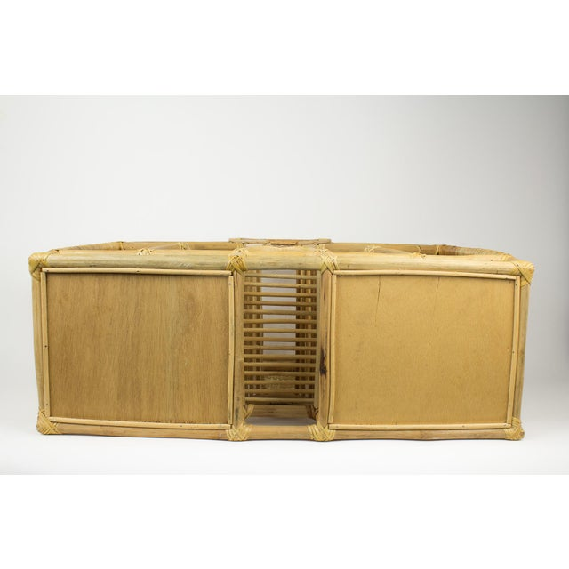 1970s Bohemian Rattan and Wicker Style Wall Desk Organizer For Sale - Image 11 of 12