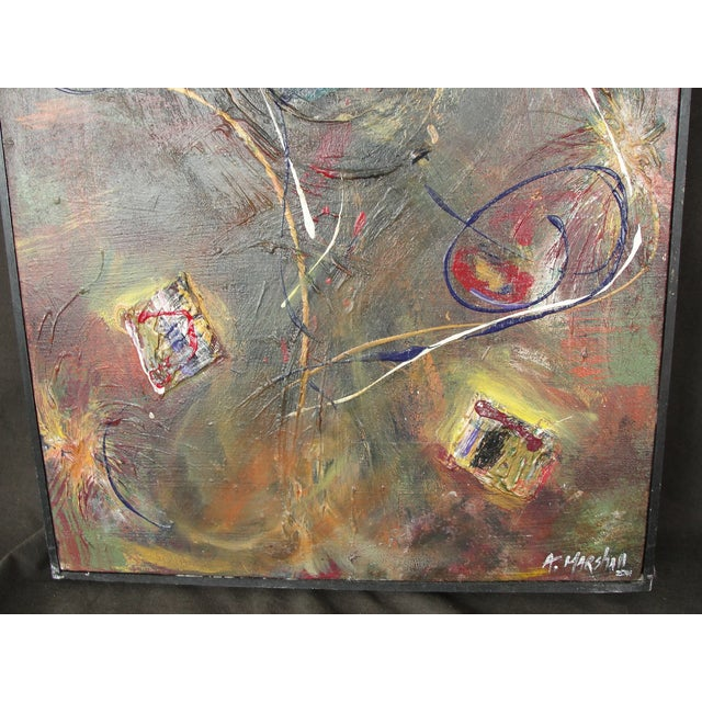 Abstract Mixed Media Painting by A. Marshall - Image 5 of 8