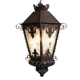 Spanish Large Iron Work Lantern For Sale