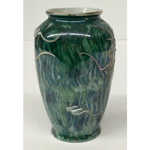 Vintage Japanese Dragon Porcelain Vase For Sale - Image 4 of 12