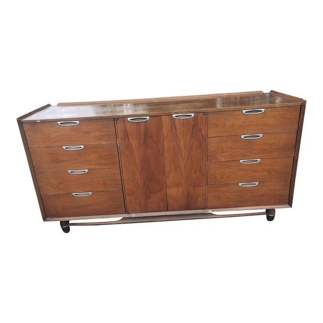 1974 Broyhill Premier Division Credenza With Mirror For Sale