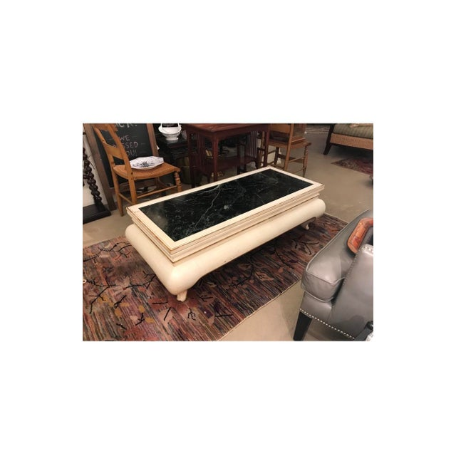 1960s Valero White & Marble Top Coffee Table For Sale - Image 5 of 5
