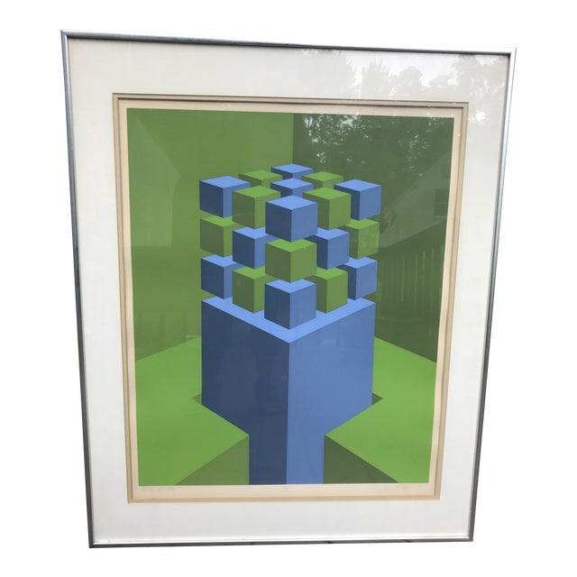 """Marko Spalatin 1971 Serigraph """"Cubes Devoted"""" Signed and Numbered - Image 1 of 9"""