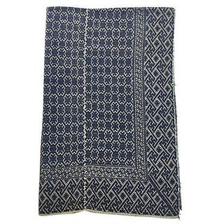 Hill Tribe Blue & White Hand Woven Dowry Quilt