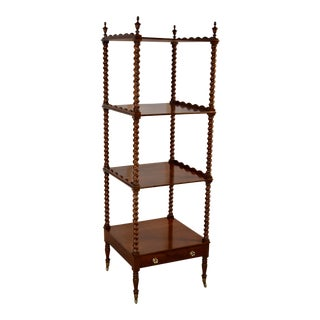 19th Century English Mahogany Whatnot For Sale