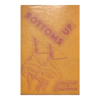 """""""Bottoms Up"""" Cocktail Book For Sale"""