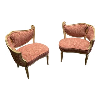 1940s Vintage French Chairs- a Pair For Sale