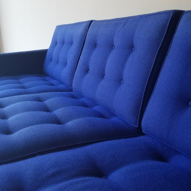 1960s 1960s Florence Knoll Three Seater Sofa W/ Original Fabric For Sale - Image 5 of 13