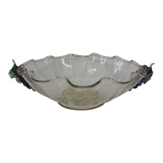 Vintage Murano Glass Bowl For Sale