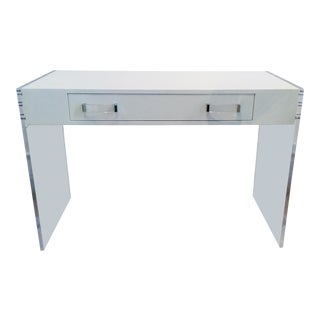 Modern Acrylic Desk For Sale