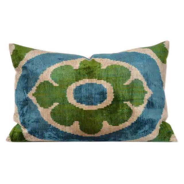 Belgian Silk Velvet Accent Pillow For Sale