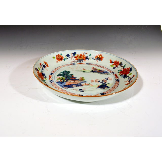 Chinese Export Porcelain Imari & Verte Large Saucer Dish Circa 1740-70 (NY9247/imrx) The Chinese Export Imari porcelain...