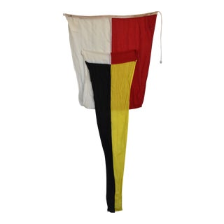 Vintage Maritime Nautical Boating Signal Flag For Sale