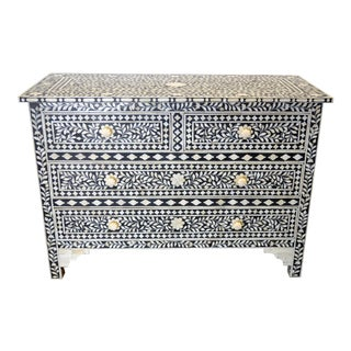 Moroccan Inspired Bone Inlay Dresser For Sale