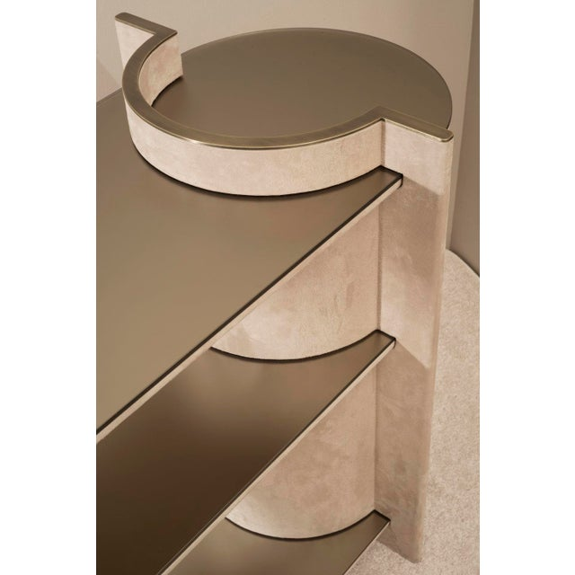 Contemporary Contemporary Torus Console Shelving, by Robert Sukrachand Made in Usa For Sale - Image 3 of 5