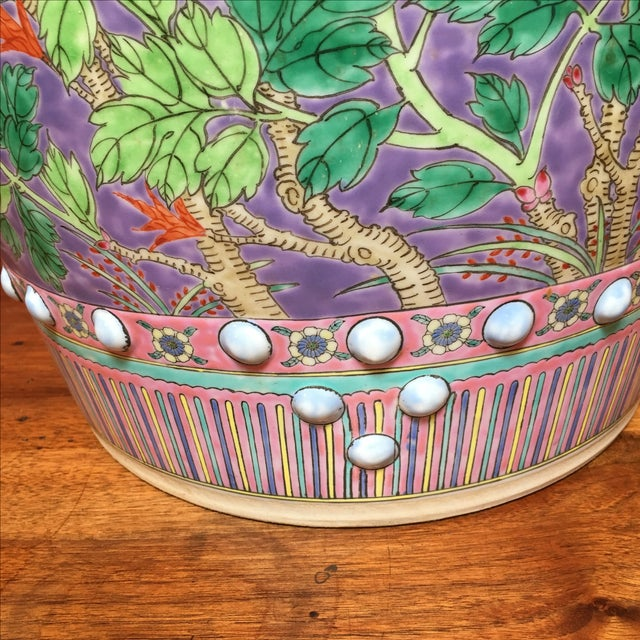 Pastel Colored Chinese Garden Stools - A Pair - Image 7 of 10