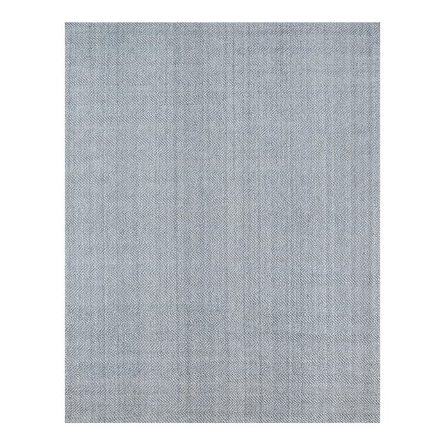 Erin Gates by Momeni Ledgebrook Washington Grey Hand Woven Area Rug - 5′ × 8′ For Sale
