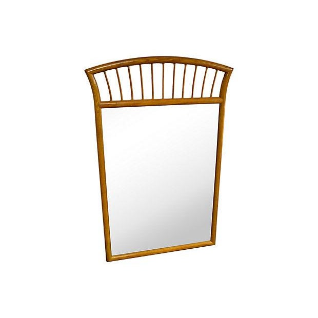 Traditional Oak Frame Mirror For Sale - Image 3 of 7