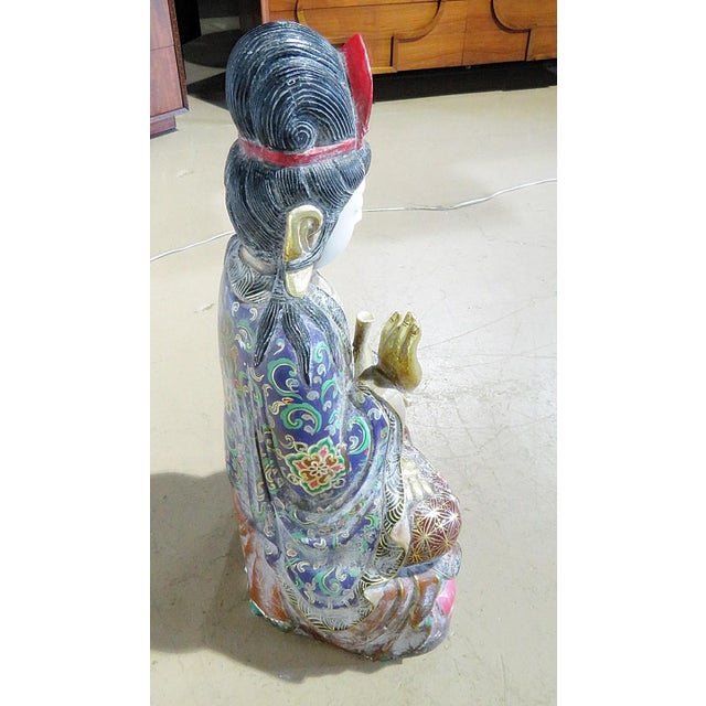 Marble Figural Oriental Marble Statue For Sale - Image 7 of 8