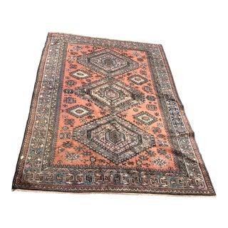 Vintage Shiraz Turkish Rug- 5′8″ × 7′10″ For Sale