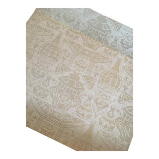 Clarence House Vase on Sisal Wallpaper - Greystone For Sale