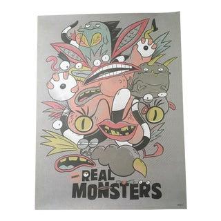 "Christopher Lee ""Aaah! Real Monsters!"" Tribute Promotional Nickelodeon Poster"