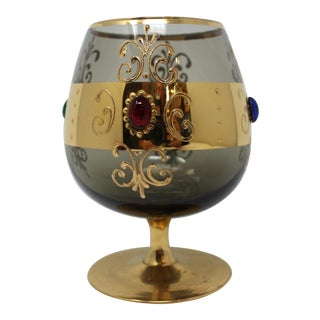Vintage Jeweled Venetian Goblet For Sale