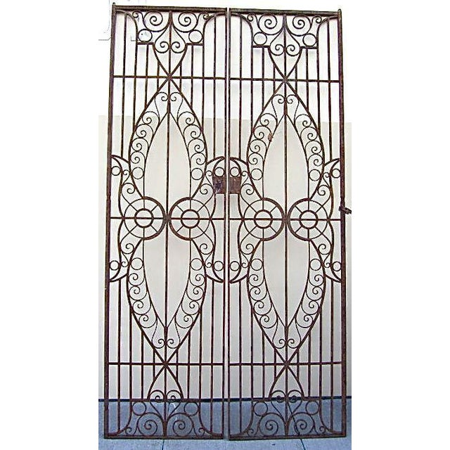 19th C. Egyptian Iron Gates - A Pair - Image 2 of 6