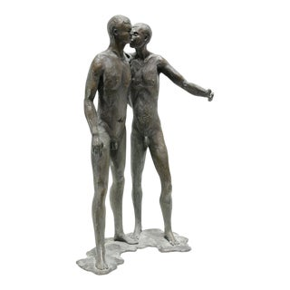 Bronze Sculpture of Two Nude Guys For Sale