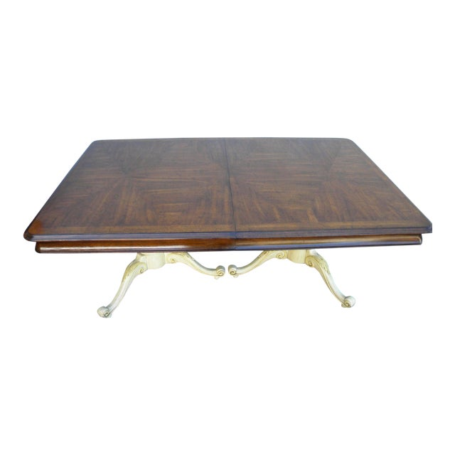 French Painted Expandable Dining Table For Sale