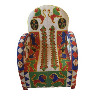 African Beaded Side Chair For Sale