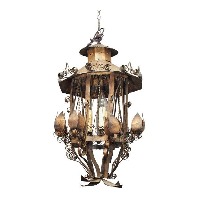 Tole Lantern Form Light - Image 1 of 10