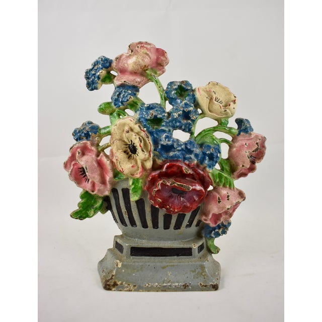 1930s Hubley Cast Iron Poppies in an Urn Doorstop For Sale - Image 9 of 9