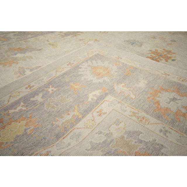 Early 21st Century Contemporary Turkish Oushak Area Rug - 11′2″ × 14′7″ For Sale - Image 5 of 8