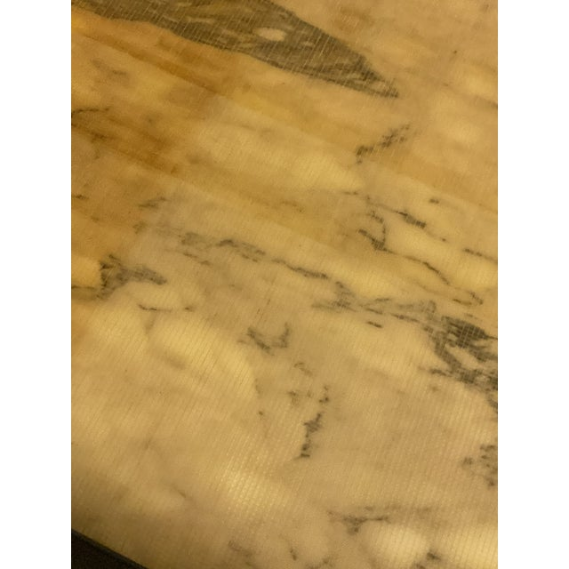 1970s Vintage Calacatta Marble Dining Table For Sale - Image 12 of 13