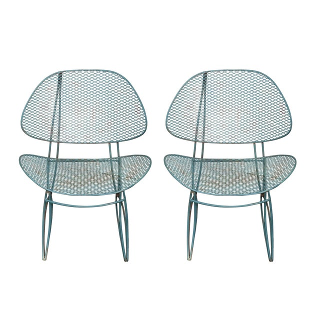 Tempestini Mid-Century Outdoor Clam Chairs - Pair - Image 1 of 3