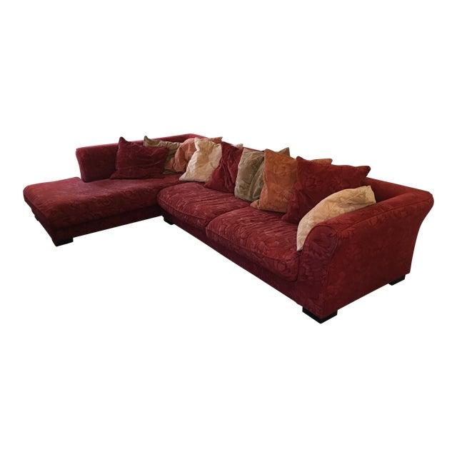 Roche Bobois Chaise Sofa & Pillows   Chairish