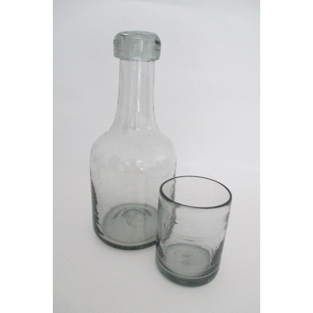 Carafe & Cup Handblown Glass - Image 2 of 4
