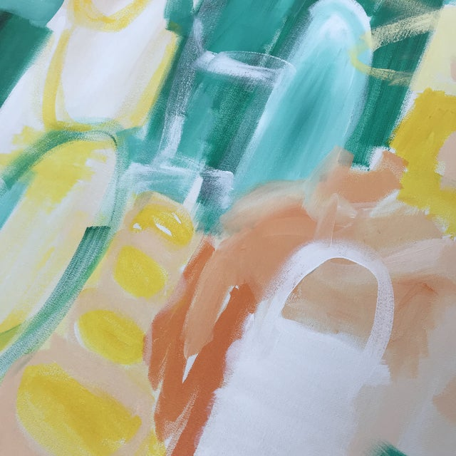 """Abstract Christina Longoria """"Summer Garden"""" Contemporary Abstract Painting For Sale - Image 3 of 5"""