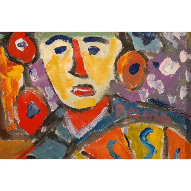 Wood Fauvist Oil on Board Abstract Painting by Hungarian Artist Miklos Nemeth For Sale - Image 7 of 8