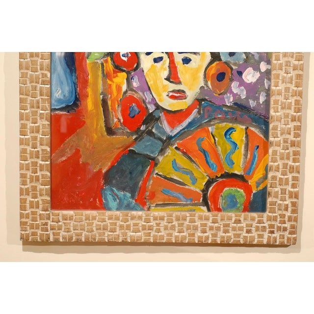 Fauvist Oil on Board Abstract Painting by Hungarian Artist Miklos Nemeth For Sale - Image 4 of 8