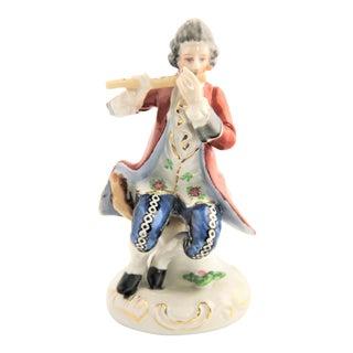 Vintage Occupied Japan Victorian Musician Man Figurine For Sale
