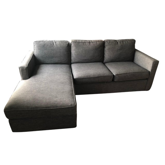 Crate & Barrel Lounge II Petite 2-Piece Sectional Sofa For Sale
