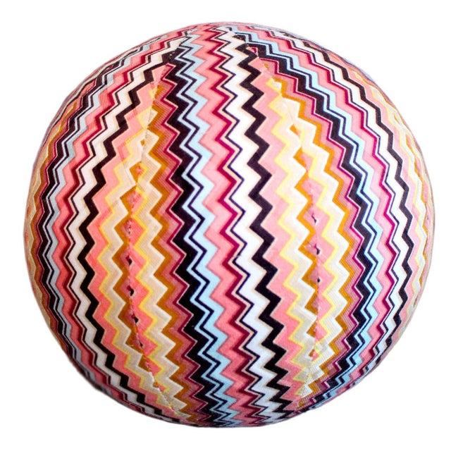 Missoni Vintage Missoni Chevron Sphere Ball Pillow For Sale - Image 4 of 4