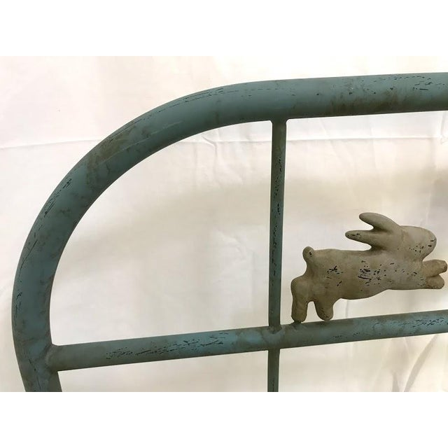 'Jumping Bunny' Twin Iron Beds by Corsican - A Pair For Sale In Phoenix - Image 6 of 13