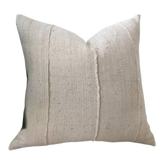 Ivory Mudcloth Pillow Cover For Sale
