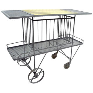 Serving Trolley Bar Cart by Tempestini for Salterini For Sale